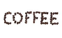 Coffee inscription Stock Photography