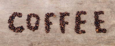 Coffee inscription Royalty Free Stock Photography