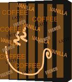 Coffee Inspired Graphic. Graphic about words relating to coffee Royalty Free Illustration