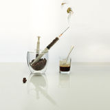 Coffee intravenous drug. Stock Photos