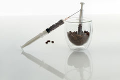 Coffee intravenous drug. Royalty Free Stock Photos