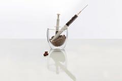 Coffee intravenous drug. Royalty Free Stock Photo