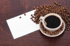 Coffee invitation Stock Photo