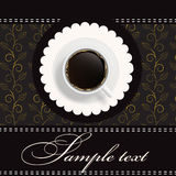 Coffee invitation background Stock Photo