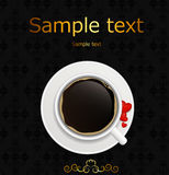 Coffee invitation background vector illustration Royalty Free Stock Photography