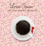 Coffee invitation background vector illustration Stock Photography