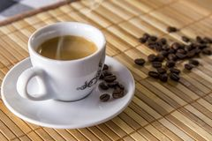 Coffee isolated close concept. Delicious stock images