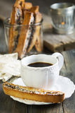 Coffee with Italian cookies. Royalty Free Stock Image