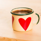Coffee in Italian style on a wooden table Stock Photos