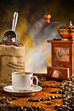 Coffee Items On Table Royalty Free Stock Images