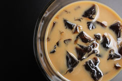 Coffee jelly isolated Stock Images