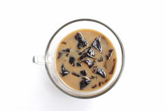 Coffee jelly isolated Royalty Free Stock Photos