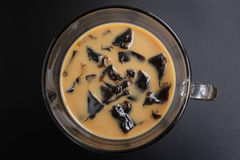 Coffee jelly isolated Stock Photos
