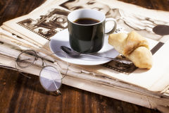 Coffee and journals Stock Image