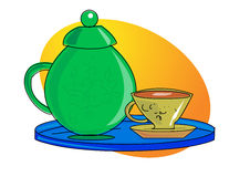Coffee and jug. Illustration. ai file available Royalty Free Stock Images