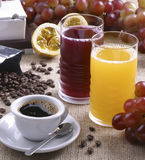Coffee and Juice Royalty Free Stock Photo