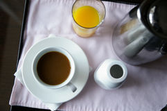 Coffee and juice Royalty Free Stock Image