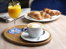 Coffee, Juice and Croissant Royalty Free Stock Image