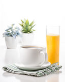 Coffee and Juice Portrait Royalty Free Stock Photos