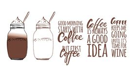 Coffee keeps me going stock illustration
