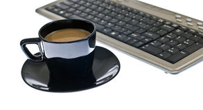 Coffee and keyboard Royalty Free Stock Photos