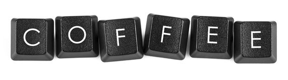 Coffee - Keyboard Buttons Royalty Free Stock Photography
