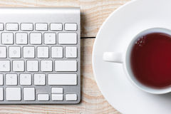 Coffee and Keyboard Stock Photos