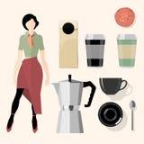 Coffee. Kitchen, bar, restaurant design elements Royalty Free Stock Photo