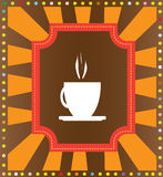 Coffee label royalty free illustration