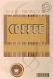 Coffee label Stock Image