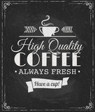 Coffee label on chalkboard. Eps10 vector illustration Royalty Free Stock Images
