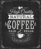 Coffee label on chalkboard Stock Photos