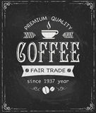 Coffee label on chalkboard. Eps10 vector illustration Stock Photography