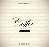 Coffee Label Royalty Free Stock Photo