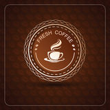Coffee label Stock Images