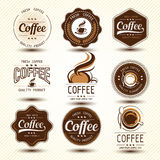 Coffee label Royalty Free Stock Photos