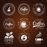 Coffee label Royalty Free Stock Images