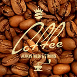 Coffee label design beans background Stock Images