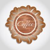 Coffee label Stock Image