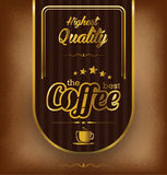Coffee label design over vintage background Royalty Free Stock Image