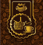 Coffee label design over vintage background Royalty Free Stock Photography