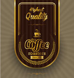 Coffee label design over vintage background Stock Image