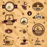 Coffee label, emblems collection Royalty Free Stock Photography