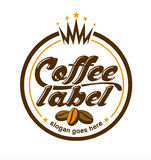 Coffee Label Logo. An illustration of a coffee label logo Royalty Free Stock Photo