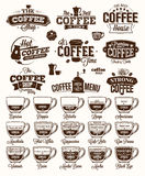 Coffee Label, logo and menu Royalty Free Stock Photo
