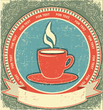 Coffee label on old paper background.Vintage Royalty Free Stock Image