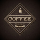 Coffee Label for restaurant, cafe, bar, coffeehous Stock Image