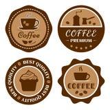 Coffee label set, cafe logo, vector. Illustration vector illustration