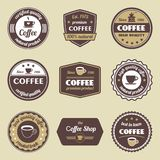 Coffee label set Stock Photography