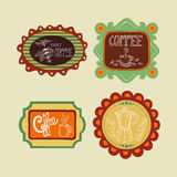 Coffee label set Royalty Free Stock Images